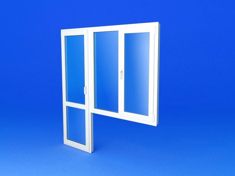 Пластиковые окна с балконной дверью - многомерность решений .